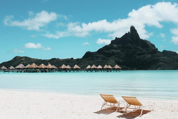 retirement sitting on beach
